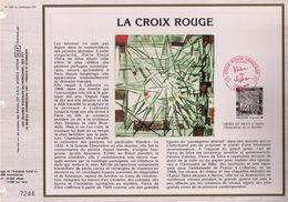 FEUILLET CEF TIRAGE 20.300 EX EN OFFSET, LA CROIX-ROUGE, 1986