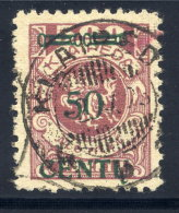 MEMEL (Lithuanian Occupation) 1923 (16. Apr.) 50 C. On 500 Mk.,  Type A IV Used.  Michel 173 A IV - Klaipeda