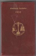 Almanach Hachette 1910 - 500 Pages Avec Très Nombreuses Infos à La Manière Du QUID - Célébrités Sciences Publicités - Non Classés