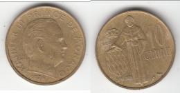 **** MONACO - 10 CENTIMES 1974 RAINIER III **** EN ACHAT IMMEDIAT !!! - 1960-2001 Nouveaux Francs