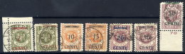 MEMEL (Lithuanian Occ) 1923 (16-20 Apr) Set Used. Michel 167-73