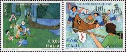 CEPT / Europa 2007 Italie N° 2933 Et 2934 ** Le Scoutisme  - Enfants - Europa-CEPT