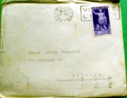 ITALIA REGNO 1937 , BIMILLENARIO AUGUSTO  SU BUSTA VIAGGIATA - Storia Postale