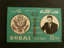 Dubai 1964-Kennedy-Imperf- MNH