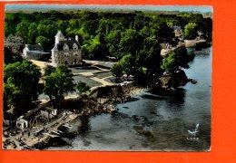 29 BEG MEIL : Château De Lanroz Et La Plage De La Cale (écrite Et Oblitérée) - Beg Meil
