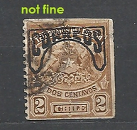 CHILE       1904 Crest With Correos Imprint On Top Used Not Fine