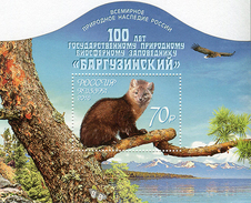 Russia, 100th Foundation The Barguzinsky State Biosphere Nature Reserve, 2016, S/s - Blocks & Sheetlets & Panes