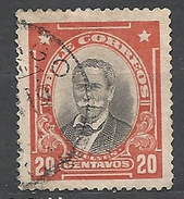 """CHILE     1911 Personalities - Inscribed """"CHILE CORREOS""""  Manuel Bulnes        Used"""