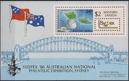 1980 Samoa Satellite Earth Station Mi. Bl. 23  SG#MS578 SC#538**MNH Nationale Briefmarkenausstellung SYDPEX '80, S - Aitutaki