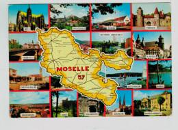 13317  CPM   Carte Géographique Du Département De La Moselle  , Dep 57 , 1980 , ACHAT DIRECT ! - Ohne Zuordnung