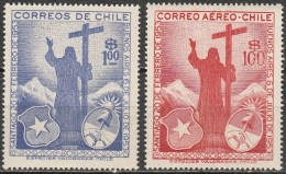 Chile - 1955 - Reciprocla Visits Of Presidents Of Argentina And Chile (MNH, **)