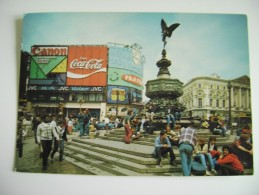 PUBLICITES - COCA COLA -   Piccadilly Circus  LONDON   INGHILTERRA  POSTCARD USED - Piccadilly Circus