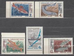 Russia USSR 1966 Mi# 3264-3268 Fish MNH * *