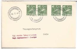 NORUEGA SUECIA CC 1945 OFICINA NORUEGA EN ESTOCOLMO