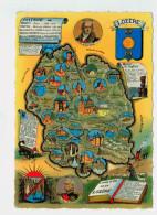 13326  CPM  Carte Geographique Du Departement De La Lozère  , Dep 48 , ACHAT DIRECT ! - Non Classés