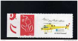MARIANNE LAMOUCHE N° 3802Ab LOGO HELICOPTERE COTE MAURY 13 EUROS