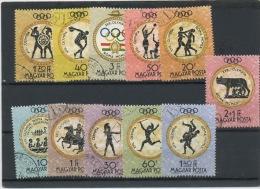 HONGRIE: JEUX OLYMPIQUES DE ROME - N° Yvert 1379/1389 Obli.