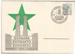 ALEMANIA 1948 MUNCHEN CONGRESO ESPERANTO - Esperánto