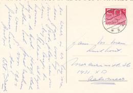Ansicht 13 Dec 1983 Overveen *3* (typerader Langebalk) LAAT Gebruik - Postal History