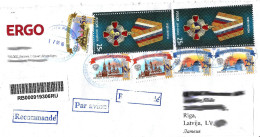 Russia 2016 Recomended Letter Send To Latvia - Order Marshal Zhukov Militaria 2014  (Lot - 100 - 001)