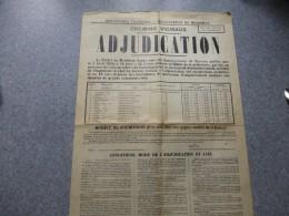 Affiche Chemins Du MORBIHAN, Adjudication 1938, 40x60 Env ; Ref 870 VP23 - Affiches
