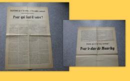 Guerre De 1870, RARE Affiche élections 1871 DUC De MOUCHY ; Ref   VP23 - Affiches