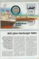 Mhw085c TRANSPORT SCHEPEN HAVEN HAMBURG SHIPS HARBOUR SCHIFFE HAFEN DEUTSCHE BUNDESPOST 1989 MUNTBRIEF NUMISLETTER - Ships