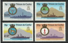 TRISTAN DA CUNHA  1977 SHIPS CRESTS SET MNH - Boten