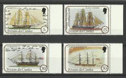 TRISTAN DA CUNHA 1982 SAILING SHIPS SET  MNH(SEE NOTE) - Boten
