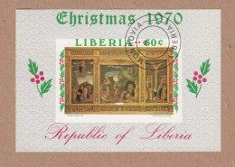 Liberia 1970 Christmas Miniature Sheet CTO