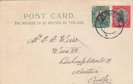 1927 EN AFRIQUE DU SUD ? -2 X Port + Timbre Pietermaritzburg (Natal) Sur Carte Postale Se Rendit à Vienne - Briefmarken