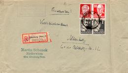 DDR 1952/53: 2x 2pf U. 80 Pf Rot Köpfe II +24 Pf Pieck Auf R-Doppelbrief, Siehe Beschreibung U. Scan