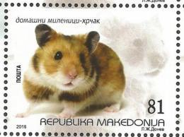 MK 2016-750 FAUNA HAMSTER, MAKEDONIA, 1 X 1v, MNH - Macédoine