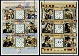 Schach Chess Ajedrez échecs - Tschad Tchad Chad 1998 - MiNr 1899/1916 - 2 Kleinbogen