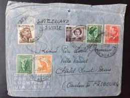 PAPOUASIE-NOUVELLE-GUINEE 1950 Sur Timbre KOALA AUSTRALIE , LETTRE PAR AVION POUR SUISSE, SWITZERLAND, PAPUA NEW GUINEA