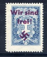 "MEMEL 1939 Private Overprint ""Wir Sind Frei!"" On Lithuania 25c (Mi 273) LHM / *."