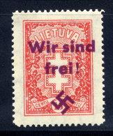 "MEMEL 1939 Private Overprint ""Wir Sind Frei!"" On Lithuania 15c (Mi 289) LHM / *."