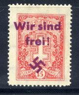 "MEMEL 1939 Private Overprint ""Wir Sind Frei!"" On Lithuania 15c (Mi 289) LHM / *. - Klaipeda"