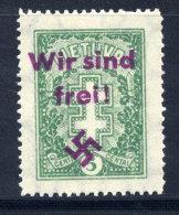 "MEMEL 1939 Private Overprint ""Wir Sind Frei!"" On Lithuania 5c (Mi 288) LHM / *."