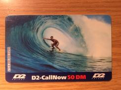 Rarer Prepaid Card D2 Call Now - 50 DM  Wave Board - Wellenreiter  -   Rare And Fine Used - Little Printed - Deutschland