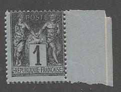 FRANCE - N°83a) NEUF** SANS CHARNIERE AVEC LEGER PIQUAGE A CHEVAL NORD/SUD - COTE YT : 18€ - 1877