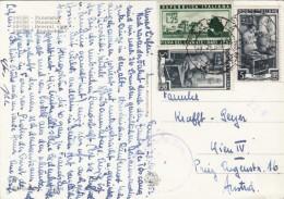 ITALIEN 1952 - 3 Sondermarken Auf Zensur-Ak ASSISI Gel.n.Wien IV