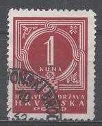Croatia 1941. Scott #J7 (U) Numeral Of Value * - Croatie
