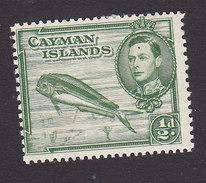 Cayman Islands, Scott #101, Mint Hinged, Dolphins, Issued 1938 - Iles Caïmans