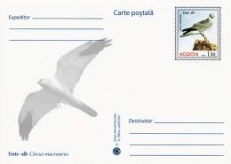 Moldova 2016 - Birds Of Prey - Pallid Harrier - Prepaid Postcard - Stationary