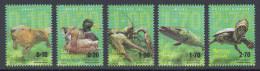 Bosnia Serbia 2016 River Animals, Beaver, Wild Duck, Crawfish, Pike, River Turtle, Fauna, Definitive Stamps MNH