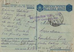 FRANCHIGIA WWII POSTA MILITARE 78 SEZ A 1943 BRIGNOLES FRANCIA  ENNA TORREBELVIC - 1900-44 Victor Emmanuel III
