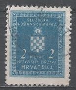 Croatia 1942. Scott #O5 (U) Croatian Coat Of Arms * - Croatie