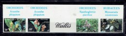 TP THEME FLEURS - COLONIE FRANCAISE - WALLIS ET FUTUNA - N°286-9 NON DENTELE - XX