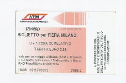 Ticket Fiera Di Milano - ITALY - Tickets - Vouchers
